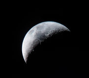 Crescent Moon Closeup Royalty Free Stock Photos