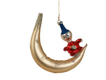 Crescent moon ornament Stock Image