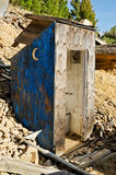 Crescent Moon Outhouse Stock Photography