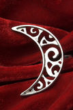 Crescent moon ring Royalty Free Stock Image