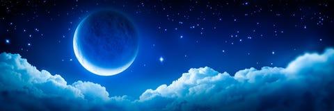 Crescent Moon rougeoyant intelligent illustration stock