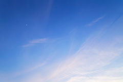 Crescent moon in sky Royalty Free Stock Photo