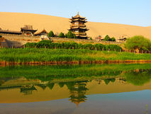 Crescent Moon Spring, Dunhuang, Gansu, China Stockbild