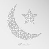 Crescent moon and star Stock Photos