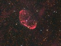 €œCrescent Nebula† för NGC 6888 i Cygnus Arkivfoton