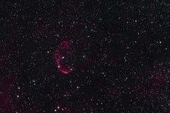 Crescent Nebula Arkivfoton