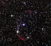 Crescent Nebula. Image to the telescope stock photography