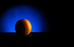 Crescent orange in blue light Stock Image
