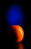 Crescent orange in blue light Stock Photography
