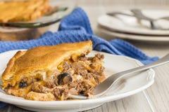 Crescent Roll Lasagna Stock Photo