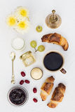 Crescent Rolls Breakfast. On a White Background Stock Images