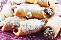 Crescent Rolls with plum jam Royalty Free Stock Images