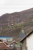 Crescent Roof Decor de style islamique doré dans la campagne chinoise Photographie stock