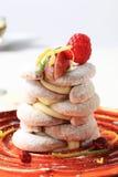 Crescent-shaped vanilla cookies Stock Photos