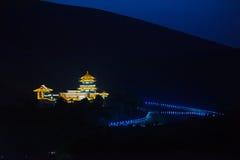 Crescent Spring i natten Arkivbilder