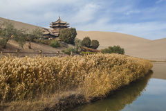 Crescent Spring and Mingyue Pavilion in autumn Royalty Free Stock Image