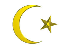 Crescent and star Stock Photos