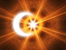 Crescent and star. The symbol of Islam with a crescent and star Stock Image