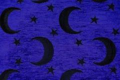 Crescent y estrellas en azul Fotografía de archivo