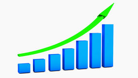 Crescimento chart Imagem de Stock Royalty Free