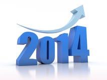 Crescimento 2014 com seta Fotos de Stock Royalty Free