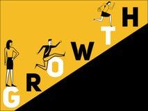 Crescimento criativo e povos do conceito da palavra que fazem coisas ilustração stock