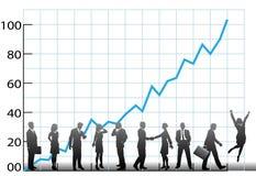Crescimento da companhia da carta da equipe do negócio Imagens de Stock
