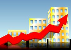 Crescimento da construção Fotografia de Stock