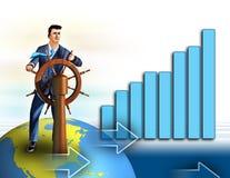 Crescimento da economia Fotografia de Stock Royalty Free