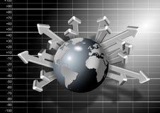 Crescimento da economia global Imagens de Stock Royalty Free