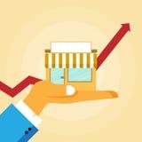 Crescimento da empresa de pequeno porte Imagens de Stock Royalty Free