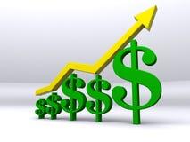 Crescimento da finança Foto de Stock