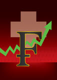 Crescimento da ilustração suíça da moeda Imagem de Stock Royalty Free