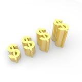 Crescimento da moeda do dólar Fotografia de Stock