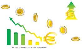Crescimento da moeda do Euro Ilustração Stock
