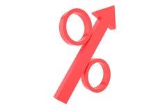 Crescimento da porcentagem imagens de stock royalty free