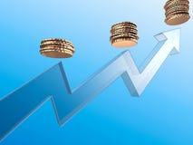 Crescimento da renda Foto de Stock Royalty Free