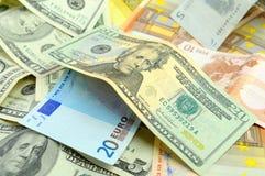Crescimento da taxa de câmbio do dólar. Fotos de Stock