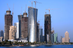 Crescimento de construção de Doha Foto de Stock