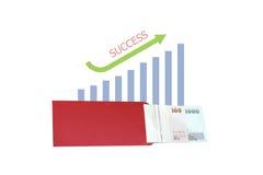 Crescimento de dinheiro com gráfico de negócio foto de stock royalty free