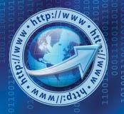Crescimento de mundo do HTTP imagem de stock royalty free