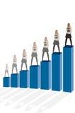 Crescimento & desenvolvimento do negócio Fotografia de Stock Royalty Free