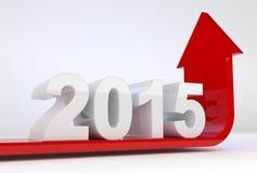Crescimento 2015 do ano Imagem de Stock