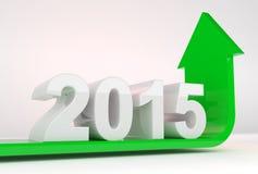 Crescimento 2015 do ano ilustração stock