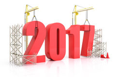 Crescimento 2017 do ano Imagens de Stock Royalty Free
