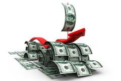 Crescimento do dólar Fotografia de Stock Royalty Free