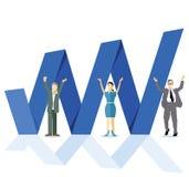 Crescimento do negócio do Internet Imagem de Stock Royalty Free
