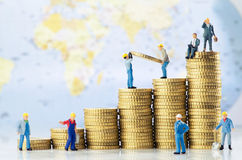 Crescimento do negócio global Foto de Stock
