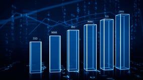 Crescimento econômico da carta ilustração stock