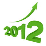 Crescimento em 2012 ilustração royalty free
